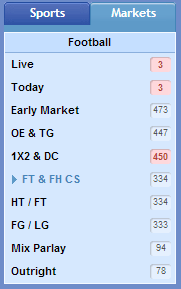 sbobet FT & FH CS