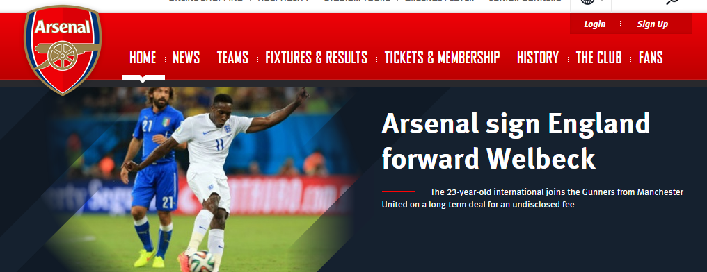 SBO  Arsenal Sign Welbeck