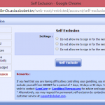 SBO Self Exclusion