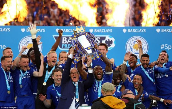 sbobet sbo Leicester champion 2015-2016