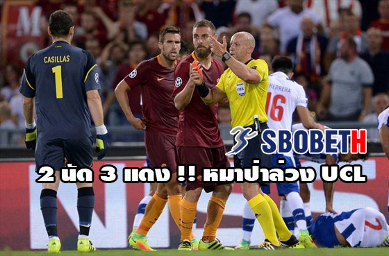sbobet roma 2 match 3 red card ucl fail
